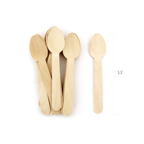Wooden Cutlery-Petite Spoons 24pc