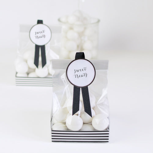 Treat Bag-Black Tie 12pc