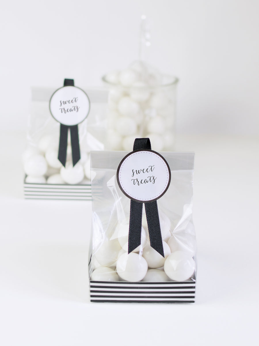 Black & White party for 12 kit