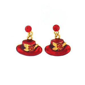Red Hat Drop Earring - Trestina
