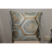 Load image into Gallery viewer, Blue/Gold Cushion Design 2 - Trestina