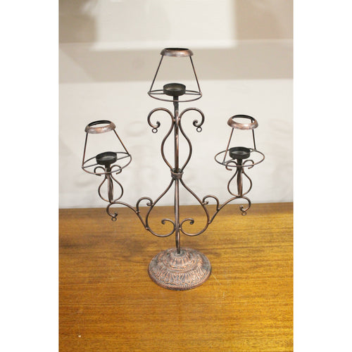 Chloe - Antique Candle Stand - Trestina