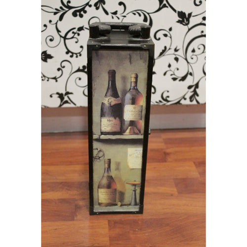 Camryn - Vintage Wood Wine Box with Latch and Handle - Trestina