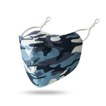 Load image into Gallery viewer, Navy Camo - Face Mask - Trestina