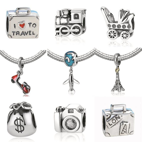 Silver Pandora Style Charm Beads Many Styles
