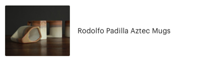 Customer review of Rodolfo Padilla Aztec Mugs from High Desert Dry Goods
