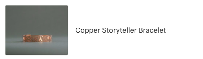 Customer review of Copper Storyteller Bracelet from High Desert Dry Goods
