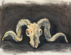 Ram Skull Painting by Gina Teichert available at the Outside Circle fundraiser auction May 6