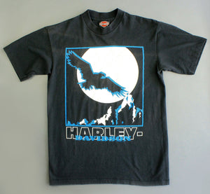 Vintage full moon Harley T shirt by 1990's illustrator Holoubek