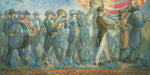 Beesley Pioneer Band patriotic painting by Minerva Teichert.  Prints for sale at High Desert Dry Goods