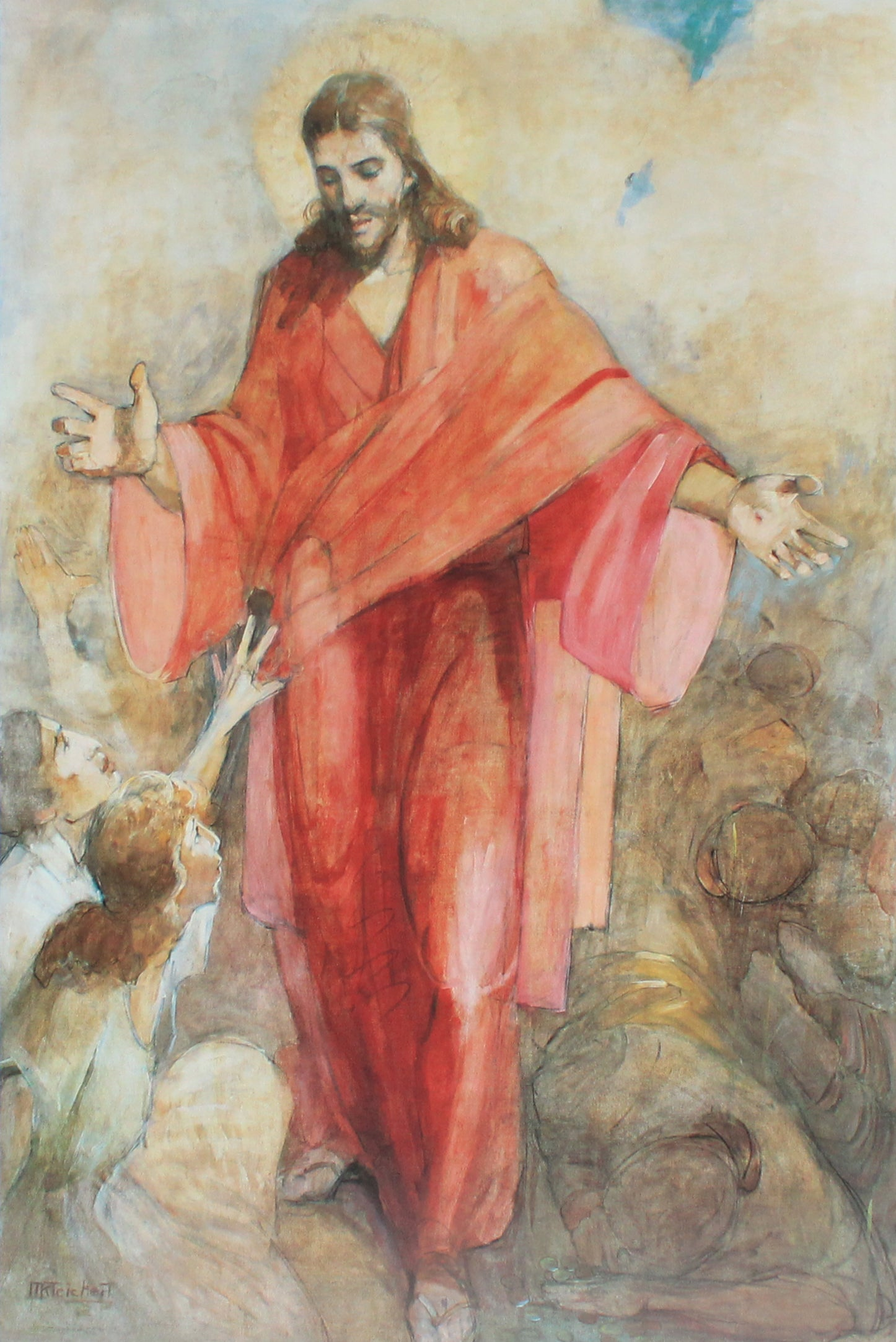 Jesus Christ in a Red Robe by Minerva Teichert prints for sale at High Desert Dry Goods