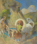 Covered Wagon Pioneers by Minerva Teichert prints for sale at High Desert Dry Goods