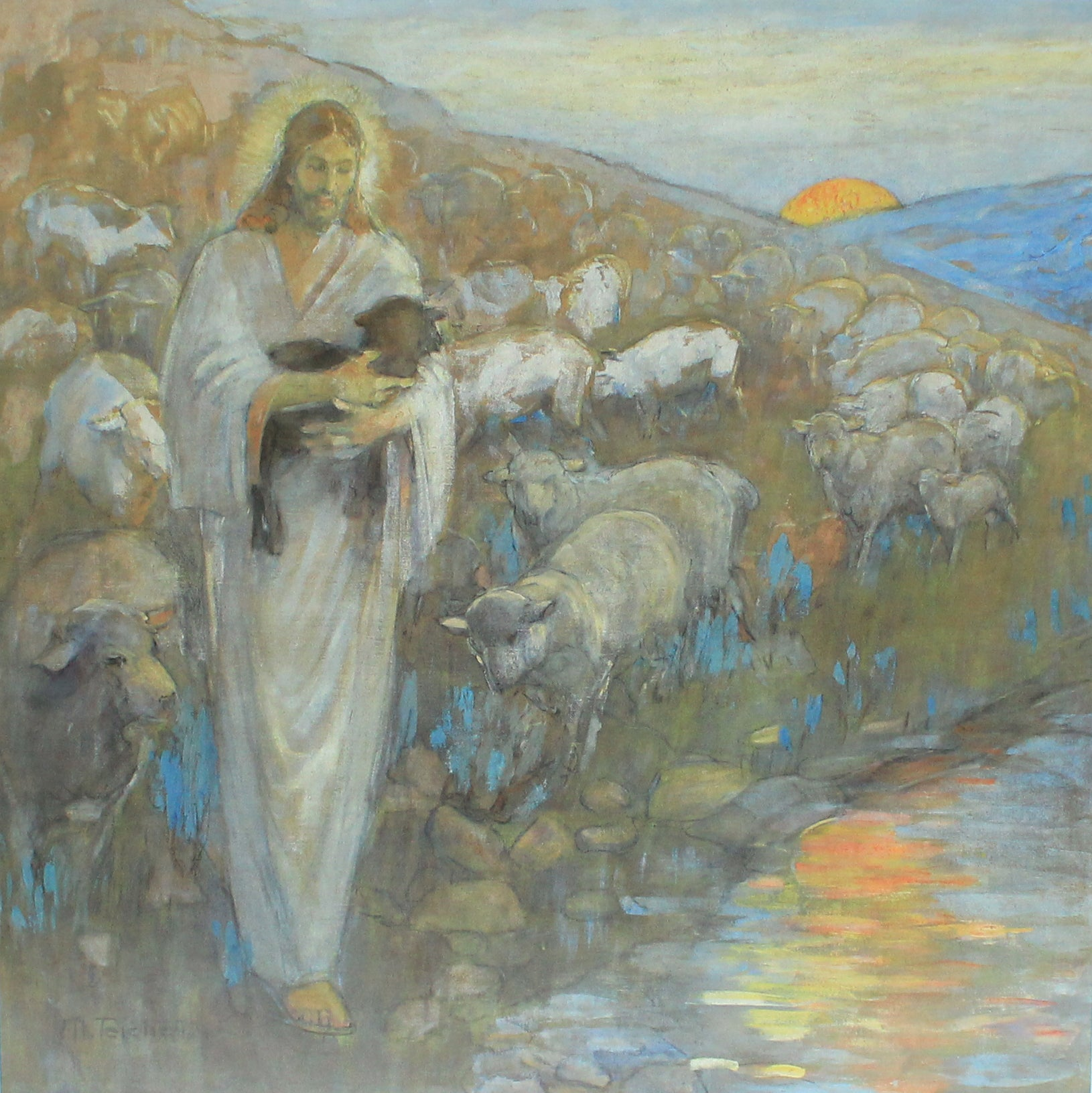 Rescue of the Lost Lamb painting by Minerva Teichert prints for sale at High Desert Dry Goods