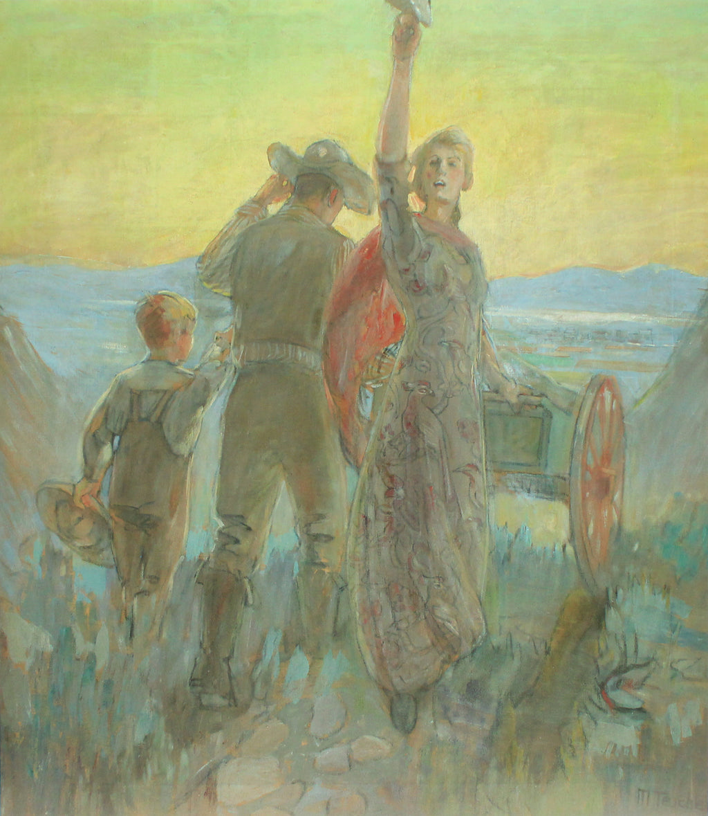 Zio Ho! Pioneer painting by Minerva Teichert.  Fine art prints for sale from High Desert Dry Goods
