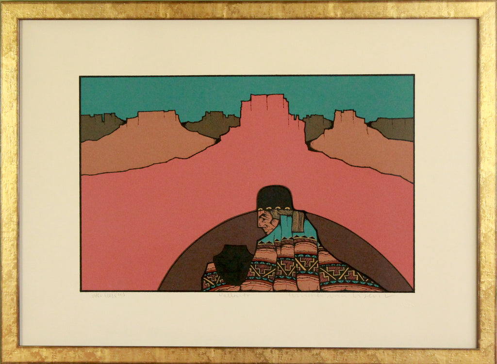 Signed and numbered southwest screen print by Amado Pena Jr