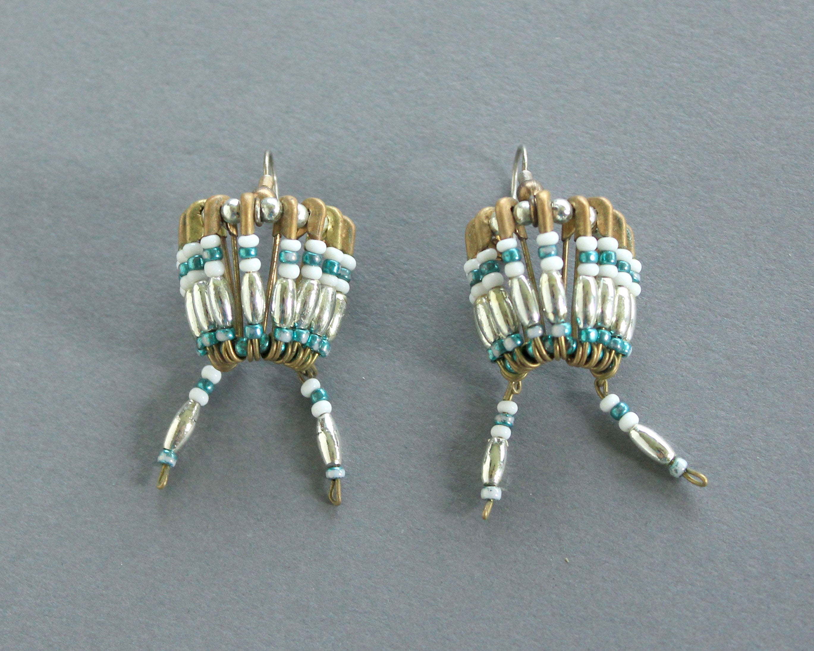 indian war bonnet inspired earrings handmade