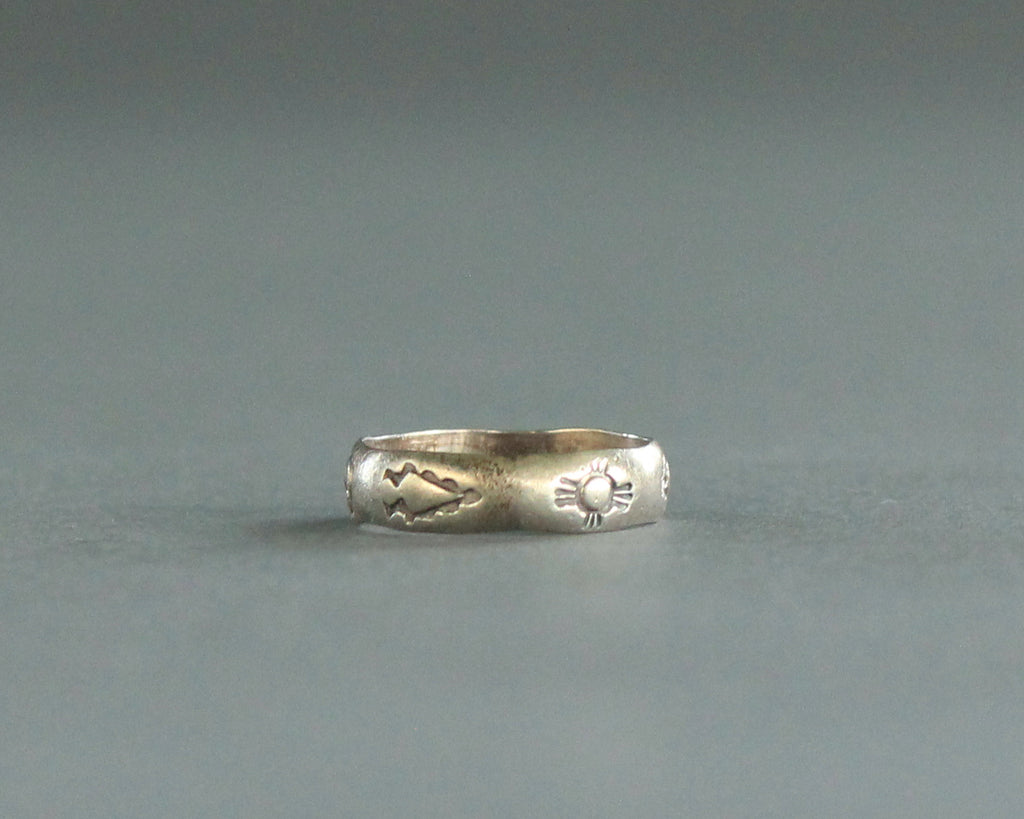 jerome begay stamped silver southwest ring