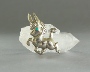 cute southwest donkey brooch