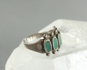 bell trading co vintage turquoise row ring