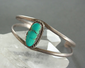 classic silver and turquoise bracelet