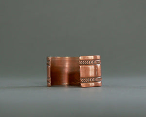 Wide polished copper bracelet from Bell Trading Co