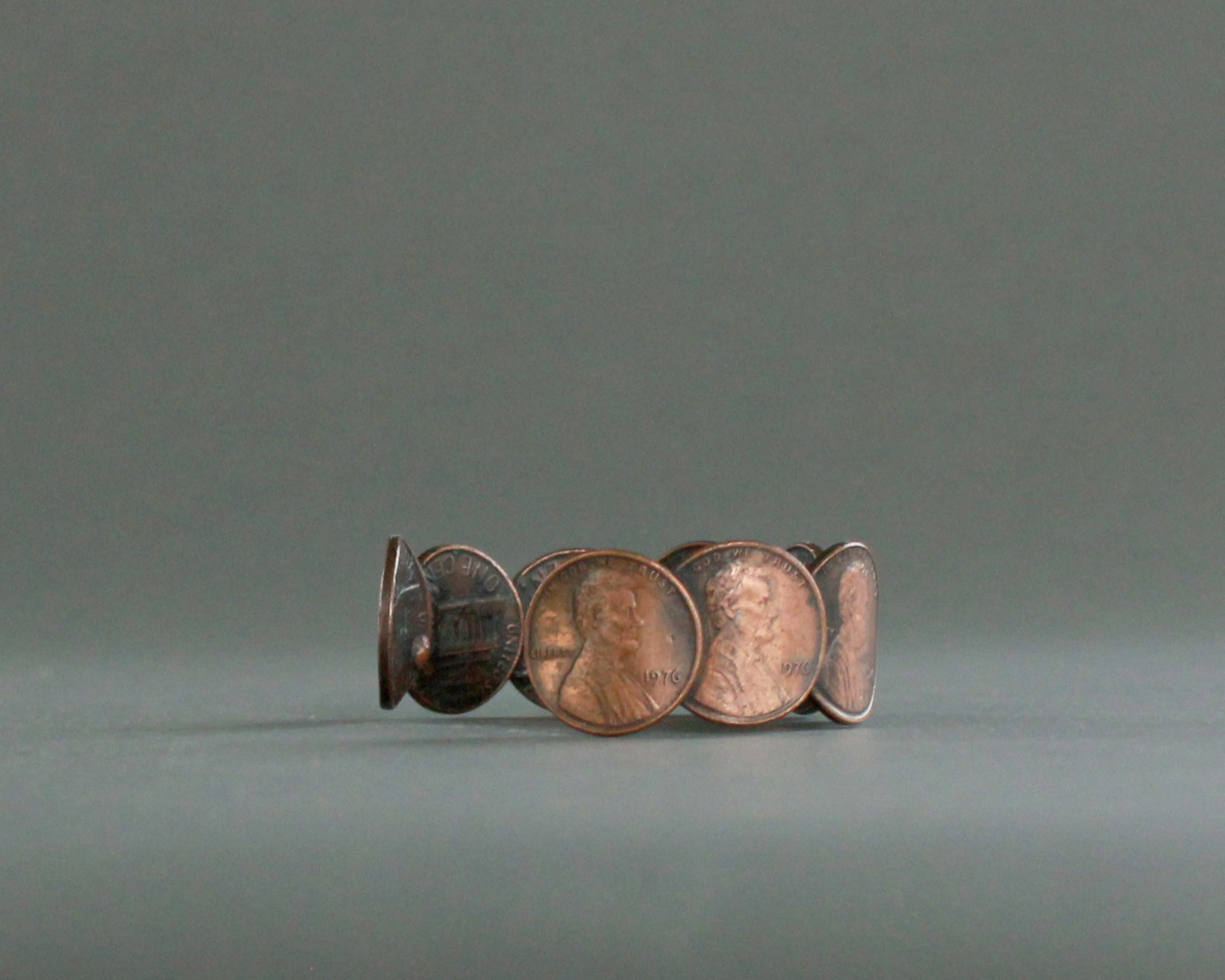 Penny Bracelet from Upcycled 1976 Coins