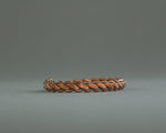 Large copper bracelet made from flattened chain