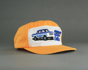 Cowboy Cadillac vintage 80's trucker hat in yellow