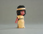 50s Carlson Indian doll with real leather dress