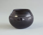 Fine blackware bowl by Santa Clara potter Birdell Bourdon