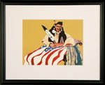 framed Bicentennial Indian by Native American artist Fritz Scholder