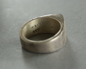 modernist sterling silver taxco ring size 6.5