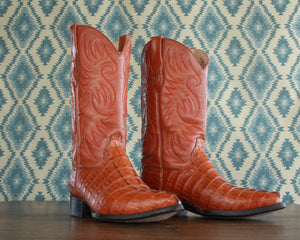 villano men's alligator cowboy boots