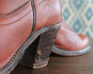 vintage heeled frye boots women's size 6 1/2
