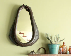 antique horse harness mirror