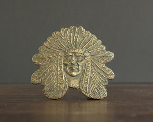 indian head brass belt buckle