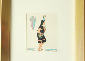 hopi kachina dancers silkscreen artwork by JD Roybal