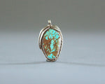 large turquoise pendant with brown matrix