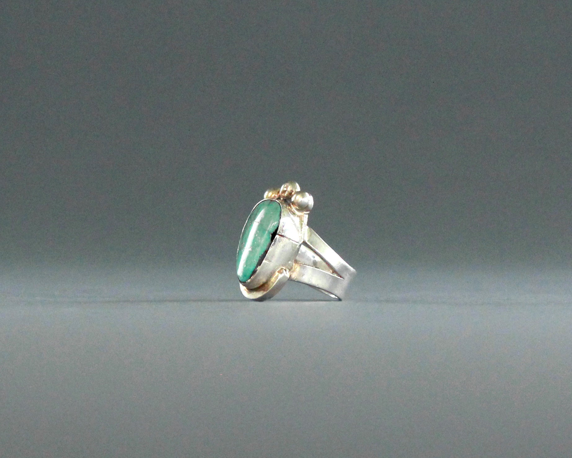 robins egg blue turquoise and silver ring