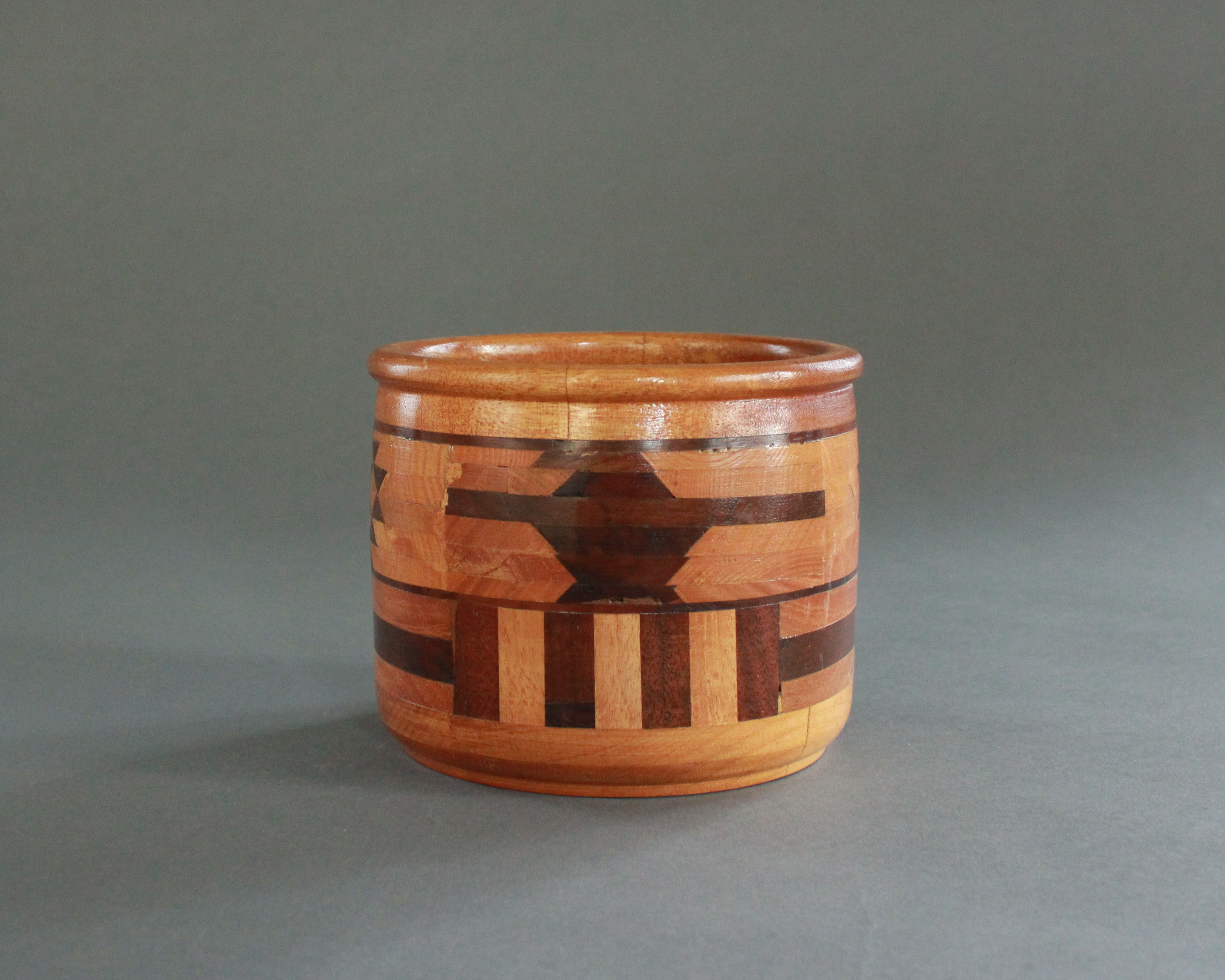 southwest wooden inlay bowl