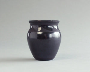 Mata Ortiz signed black on black ceramic vase