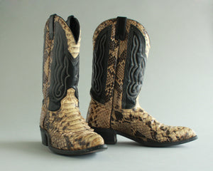 Genuine snakeskin cowboy boots men's size 10.5 D Made in USA