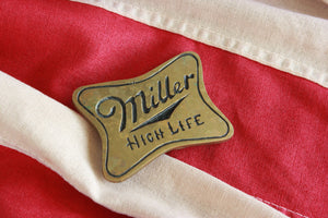 vintage miller high life beer brass belt buckle