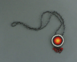 Southwest beaded medallion necklace for sale or trade