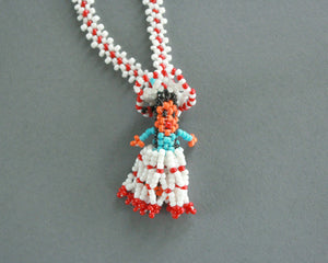 Mini Navajo woman beaded necklace