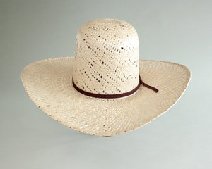 youth size 6 3/4 round top straw hat