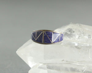 sugilite inlay ring by Ray Tafoya size 8