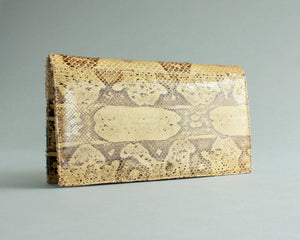 Genuine snakeskin retro clutch