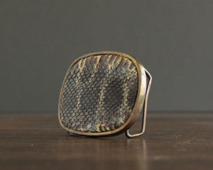 vintage brass and snakeskin belt buckle