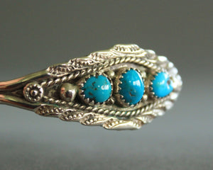 small signed sterling turquoise bracelet